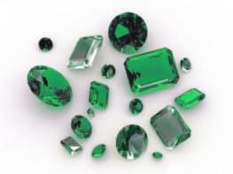 Schmuck Juwelier Gold & Diamonds- Foto von grünen Brillanten