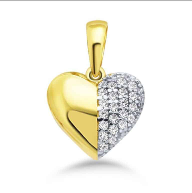 Bild mit einem Gold-Herz-Anhänger