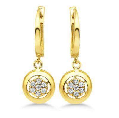Gold Ohrringe mit Brillanten