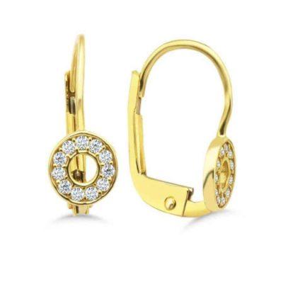 Gold Ohrringe mit Diamanten