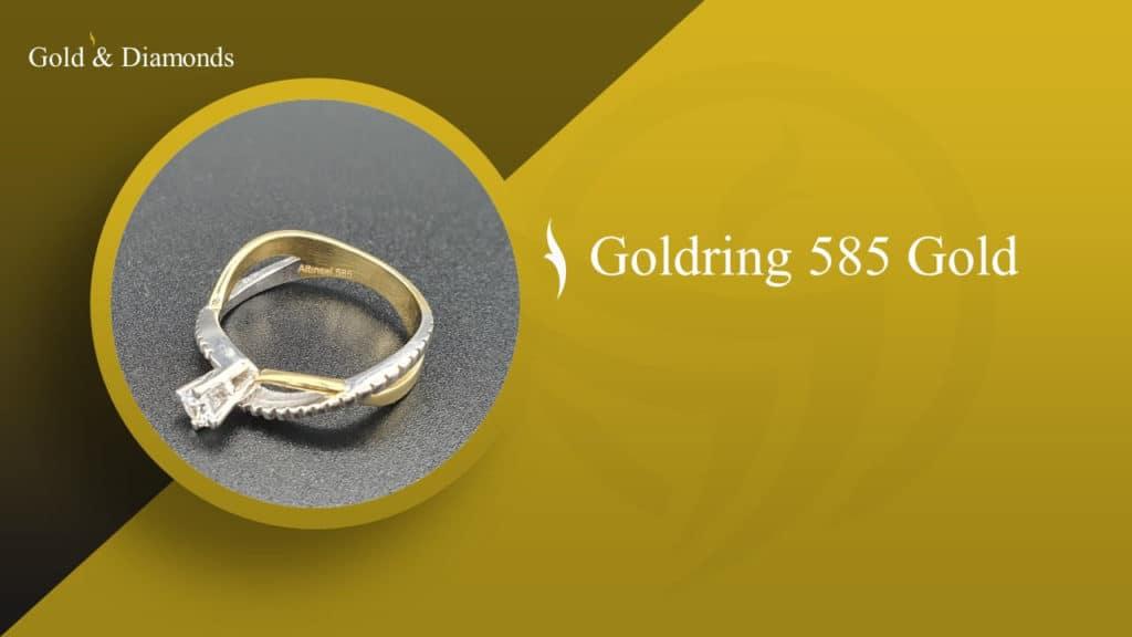 Foto von einen Goldring 585 Gold